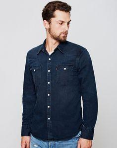 Levi's Barstow Western Shirt Navy
