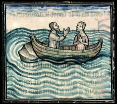 Deucalion and Pyrrha, from a copy of Ovid's Metamorphoses, 1385, Bibliothèque municipale de Lyon