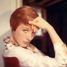 julie andrews. short hair inspiration if i've ever seen it.