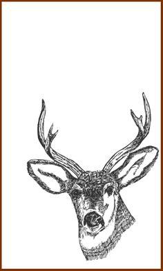 vintage deer free printable christmas labels | Deer Reindeer Christmas Gift Tags, Rich Brown, Vintage Feel