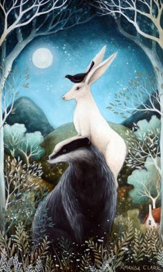 The Badger, the Hare and the Blackbird by Amanda Clark.