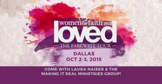 Women of Faith will fill the American Airlines arena in Dallas on October 2-3, 2015. And I want you to come with me! The group ticket rep said they are expecting the largest attendance in the 20 year history of the organization. So, I could only get a small group of tickets and may not […]