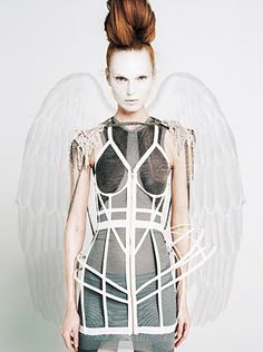 angel - editorial, avant garde, chic, high fashion, #costume #halloween