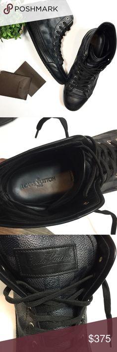 e41468d57767 Louis Vuitton Damier Graphite High Top Sneakers 100% Authentic Louis Vuitton  men s classic damier graphite