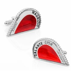 Red L'Amour Heart Stamp Cufflinks