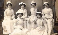 A really neat group photo of some nurses. Apparently, the uniform dates from around the Victorian era to about 1904.