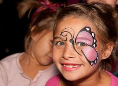 butterfly face paint idea maybe bug unit face-painting-ideas Girl Face Painting, Mime Face Paint, Face Painting Designs, Painting For Kids, Body Painting, Simple Face Painting, Butterfly Face Paint, Pink Butterfly, Butterfly Birthday Party