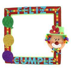 Proyectos |Marco letrero con globos y payaso Birthday Pinata, Circus Birthday, Birthday Fun, Clown Party, Circus Theme Party, Party Themes, Clown Crafts, Fish Crafts, Clowns For Birthday Parties