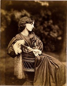 Jane Morris, posed by Rossetti by John R Parsons, 1865