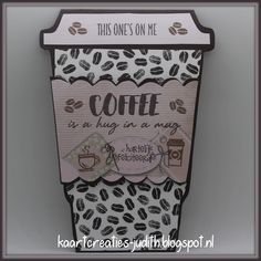 Tea And Books, Coffee Cards, Marianne Design, Book Quotes, Stampin Up, Beverages, Lunch Box, Smoothies Coffee, Mugs