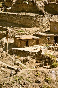 june'11. ancient berber village, atlas mountains, morocco.