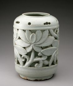Flowerpot Stand with Lotus Blossoms Artist/maker unknown, Korean Joseon Dynasty (1392-1910) 19th century
