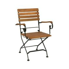 Terrace Folding Armchair By Jameson Seating Outdoor Chairs, Outdoor Furniture, Outdoor Decor, Outdoor Restaurant, Wood Arm Chair, Acacia Wood, Armchair, Terrace, Outdoors