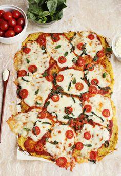 Yum! Spaghetti squash pizza crust.