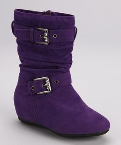 Take a look at this Purple Gloria Boot by PINKY FOOTWEAR on #zulily today!