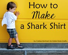 how to make a shark fin shirt or easy halloween costume