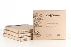 Jewelry tree packaging - zip open box, simple graphics