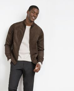 Image 1 of FAUX SUEDE OVERSHIRT from Zara