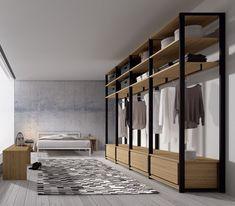 88 Beautiful Open Wardrobe Design Ideas To Simple Organizing. Bedroom Closet Design, Wardrobe Design, Closet Designs, Dressing Room Design, Closet Layout, Bedroom Cupboards, Bedroom Wardrobe, Glass Wardrobe, Bedroom Layouts