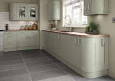 grey and green kitchen - Google Search
