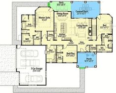 Craftsman House Plan with Junior Master Suite - 64453SC | Architectural Designs - House Plans