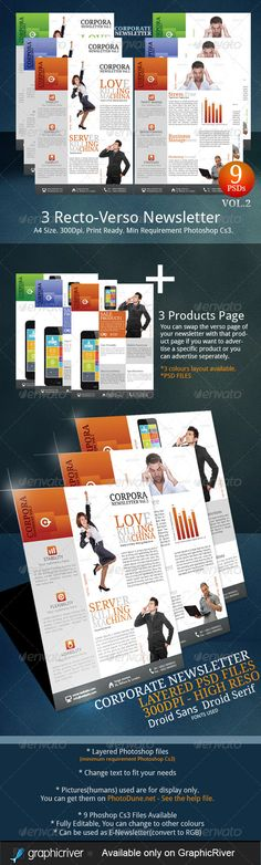 Newsletter Template  Pages  Adjustable  Newsletter Templates