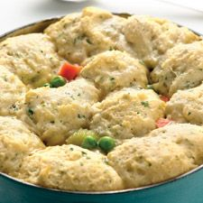 Fast & Easy Chicken Stew with Dumplings~ KingArthurFlour... This is Really Good! I've never made dumplings in the Oven before and had a couple worries about how they'd turn out. NO LONGER, they came out much lighter than the ones I usually make and the whole family Loved the entire dish! (Even picky Alex:) I did use a rotisserie chicken to cut down on time. And added 1 Tbsp of minced garlic to the dumpling dough...All in all I highly recommend this.dhw.