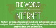 The World Of Internet Captured In Infographic:  An Awesome Infograph About The Internet Service All Around The World With Fact And Figures. This Interesting Infograph Covers The Topic Of Broadband And Internet Connectivity Around The World.  Infograph: www.exeideas.com/2014/03/the-world-of-internet.html Tags: #Infograph #Infographic #Internet #InternetInformation #Information #Interesting #InternetConnectivity