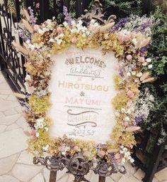 圧倒的な存在感*お花がフレームいっぱいに飾られたウェルカムボードの可愛さがすごい♡ | marry[マリー]
