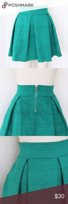 ♦️SALE♦️Emerald Structured Skirt This skirt looks more blue in the photo, but in person it's a beautiful emerald color. Purchased at Nordstrom. Excellent condition! Devlin Skirts