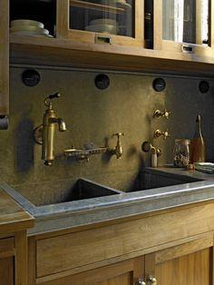 Vintage fixture in the kitchen of Brooklyn Historic Townhouse « Kathryn Scott Design Studio