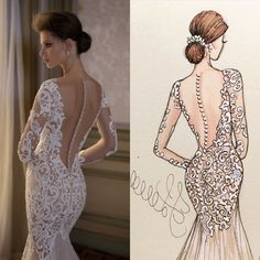 From sketch to life ❤️ BERTA S/S 2016. By @hlillustrations