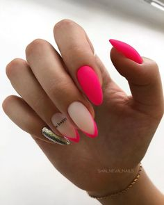 "180 trendy nail designs for summer that brighten up your look -page 14 > Homemyt.- Homemyt…""> 180 trendy nail designs for summer that brighten up your look -page 14 > Homemyt… Dope Nails, Neon Nails, Pink Nails, My Nails, Chevron Nails, Magenta Nails, Aztec Nails, Almond Acrylic Nails, Summer Acrylic Nails"