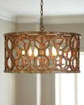 I love the modern geometric shapes juxtaposed with a more traditional finish.