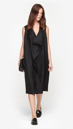 Drape Front Shirt Dress by Wayne