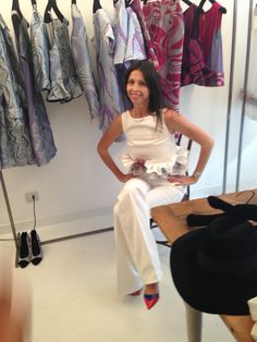 Lorena Baricalla at the Milano Fashion Week  Fitting of Uel Camilo 2015 Collection in Pizzini Showroom