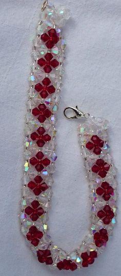right angle weave bracelet wit