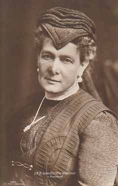 Grand Duchess Maria Pavlovna (the elder), wife of Grand Duke Vladimir Alexandrovich.