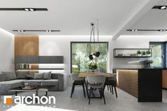 Dom w jabłonkach 4 (P) Kitchen Design, Conference Room, Sweet Home, Living Room, Table, House, Furniture, Home Decor, Kitchens