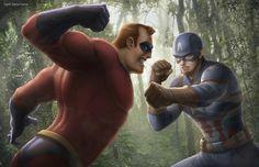 Captain America vs Mr. Incredible