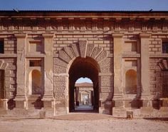 Palazzo del Te, near Mantua, Italy, designed by Giulio Romano.