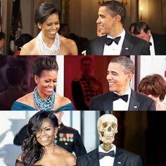 """The White House no Instagram: """""""" #Michelle has not aged a day. The only way you can date her in photos is by looking at me."""" —President #Obama at the White House Correspondents' Dinner. #WHCD"""" #potus #flotus"""