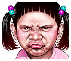 Angry face of children - Stiker LINE Funny Angry Face, Angry Cartoon Face, Cartoon Smile, Cartoon Faces, Memes Funny Faces, Cute Memes, Funny Cartoons, Funny Face Drawings, Cute Quotes For Kids