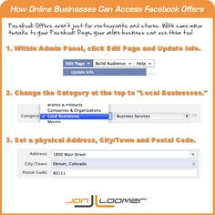 How to Create Facebook Offers for an Online Business    Thanks to Jon Loomer