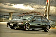 honda-civic-eg-hatchback-green-ssr-type-c - Rides & Styling Honda Civic Models, Mod List, Civic Eg, Honda Civic Hatchback, Nissan Z, Import Cars, Japan Cars, Rockets, Jdm