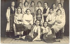 Traditional Romanian Folk Costume from Southern Romania,region of Muscel and Oltenia.