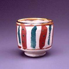 琉球窯赤絵茶碗