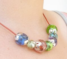 Bubbling Lampwork Necklace Fall Trends August by CandanImrak, $65.00