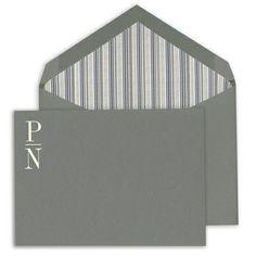 Striking Grey Correspondence Cards