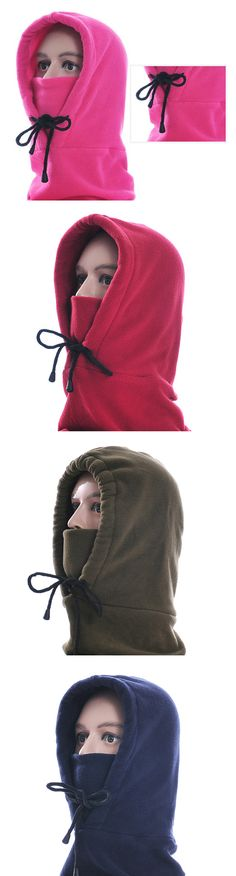 Women&Men Warm Hooded Face Mask Cap With Earmuffs #outdoors #outfits #fashion